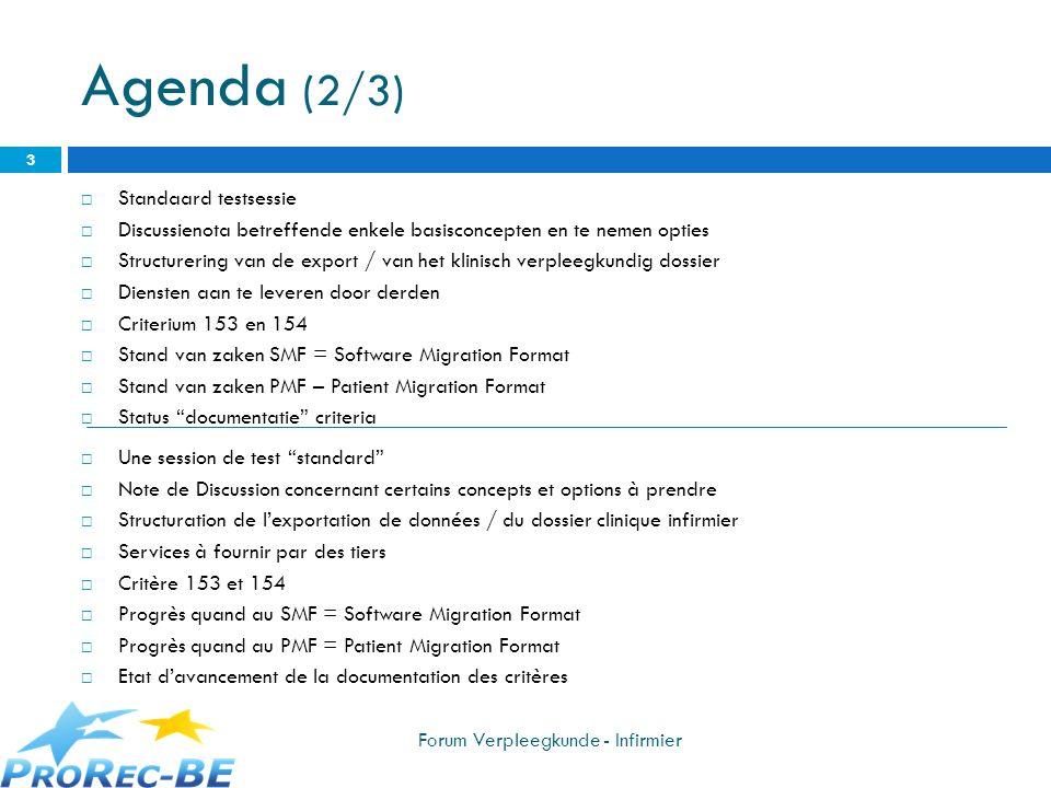 Agenda (2/3) Standaard testsessie