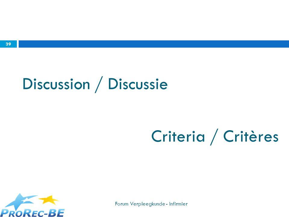 Discussion / Discussie