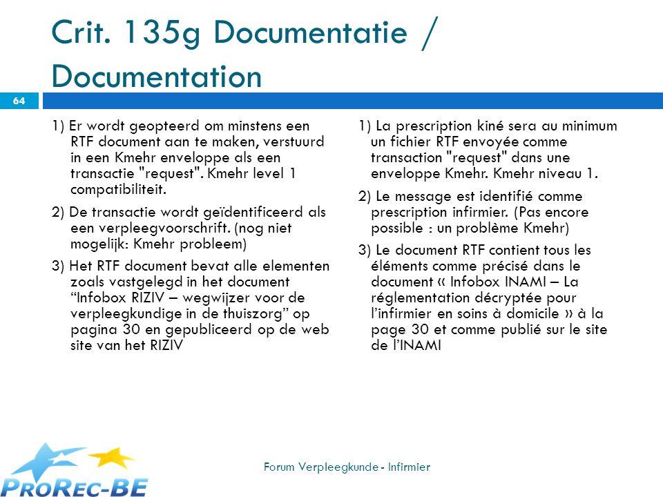 Crit. 135g Documentatie / Documentation