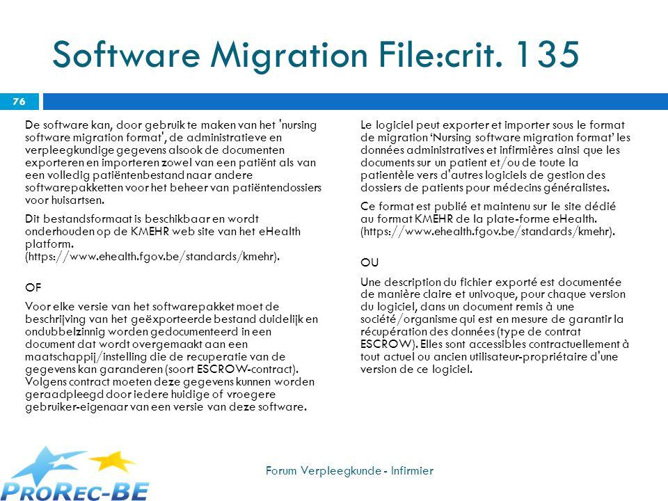 Software Migration File:crit. 135