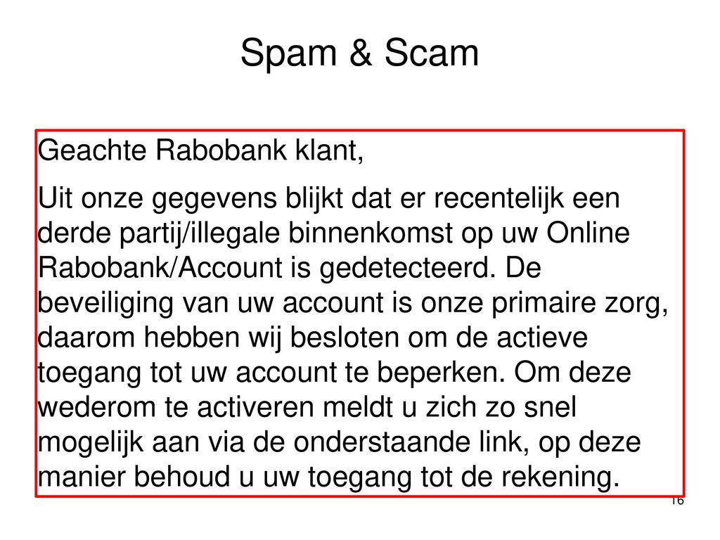 beveiliging rabobank nederland
