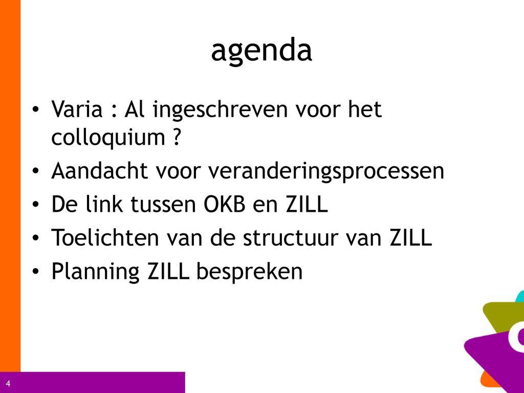 agenda Varia : Al ingeschreven voor het colloquium