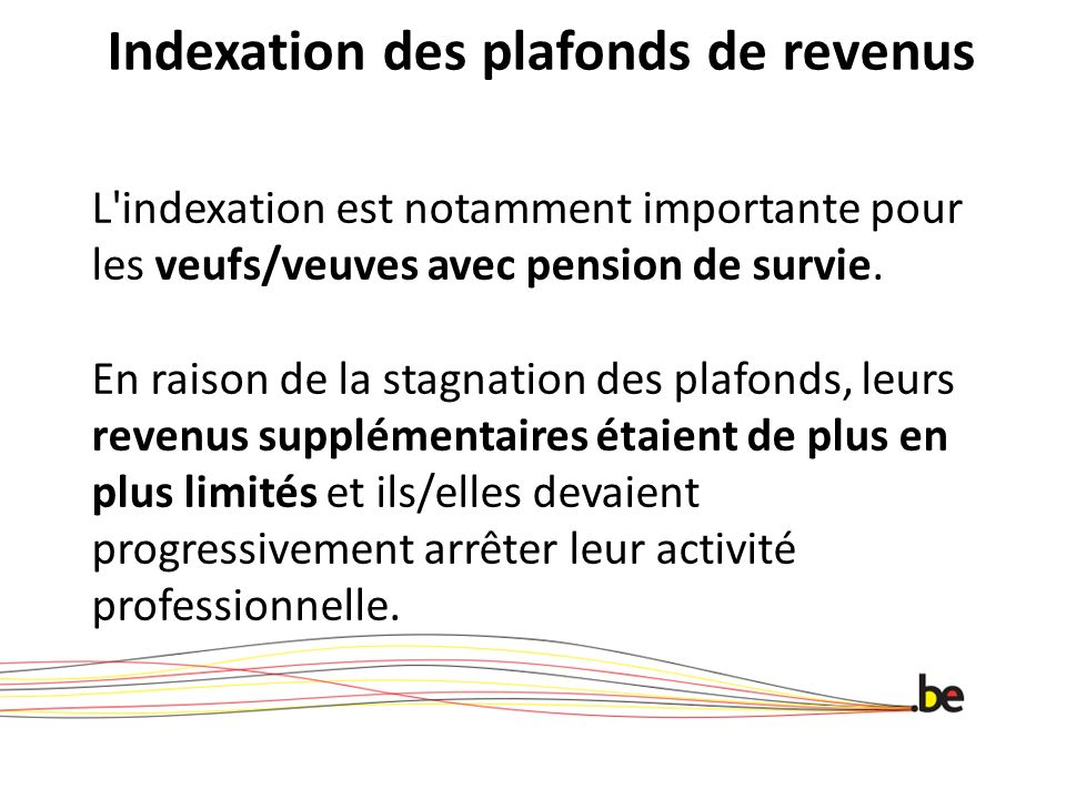 Indexation des plafonds de revenus