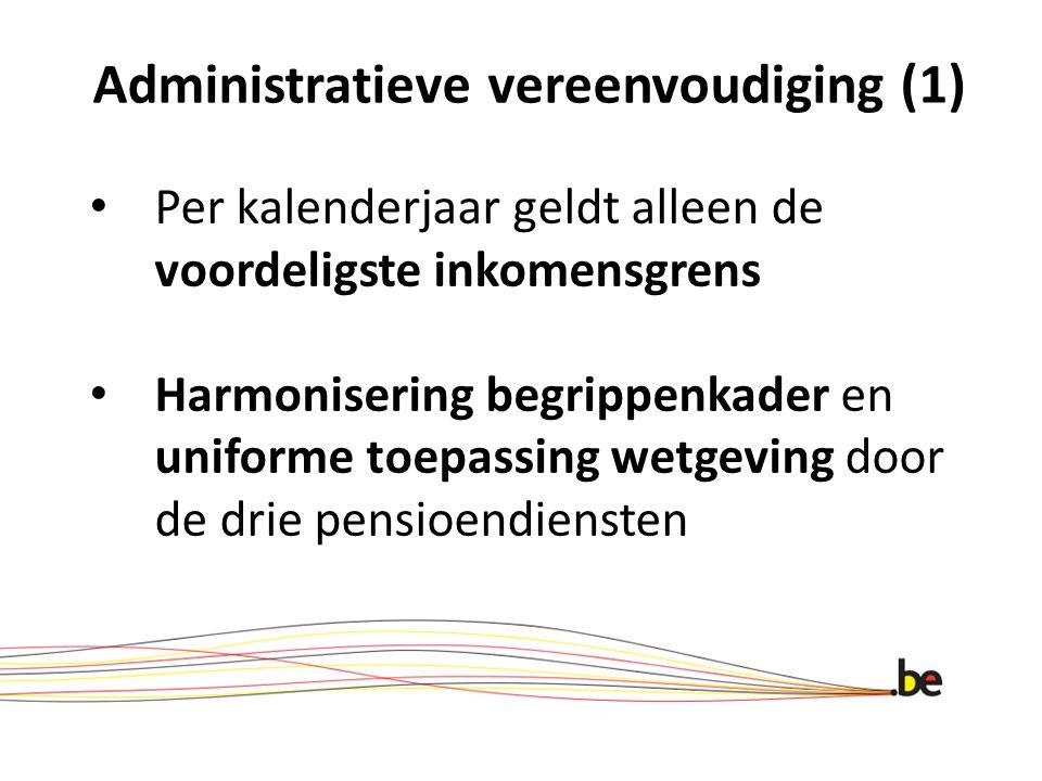 Administratieve vereenvoudiging (1)