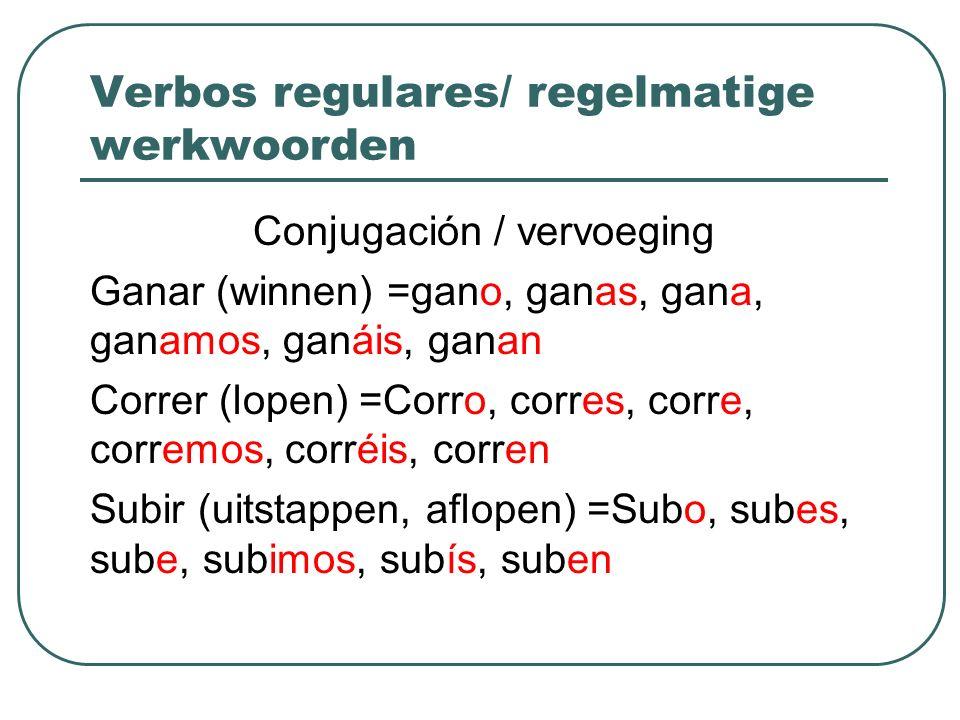 Verbos regulares/ regelmatige werkwoorden
