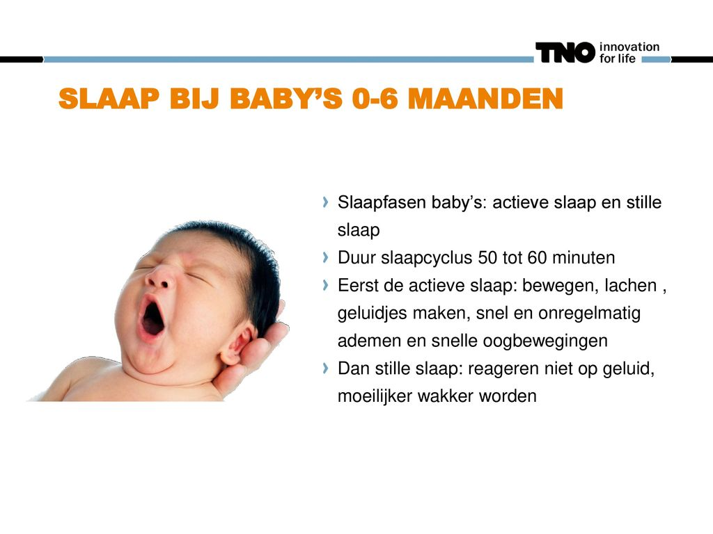 Slaap bij baby's 0-6 maanden