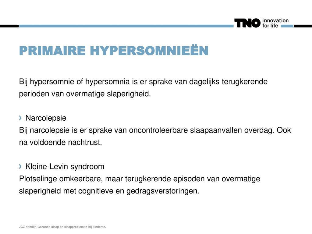 Primaire hypersomnieën