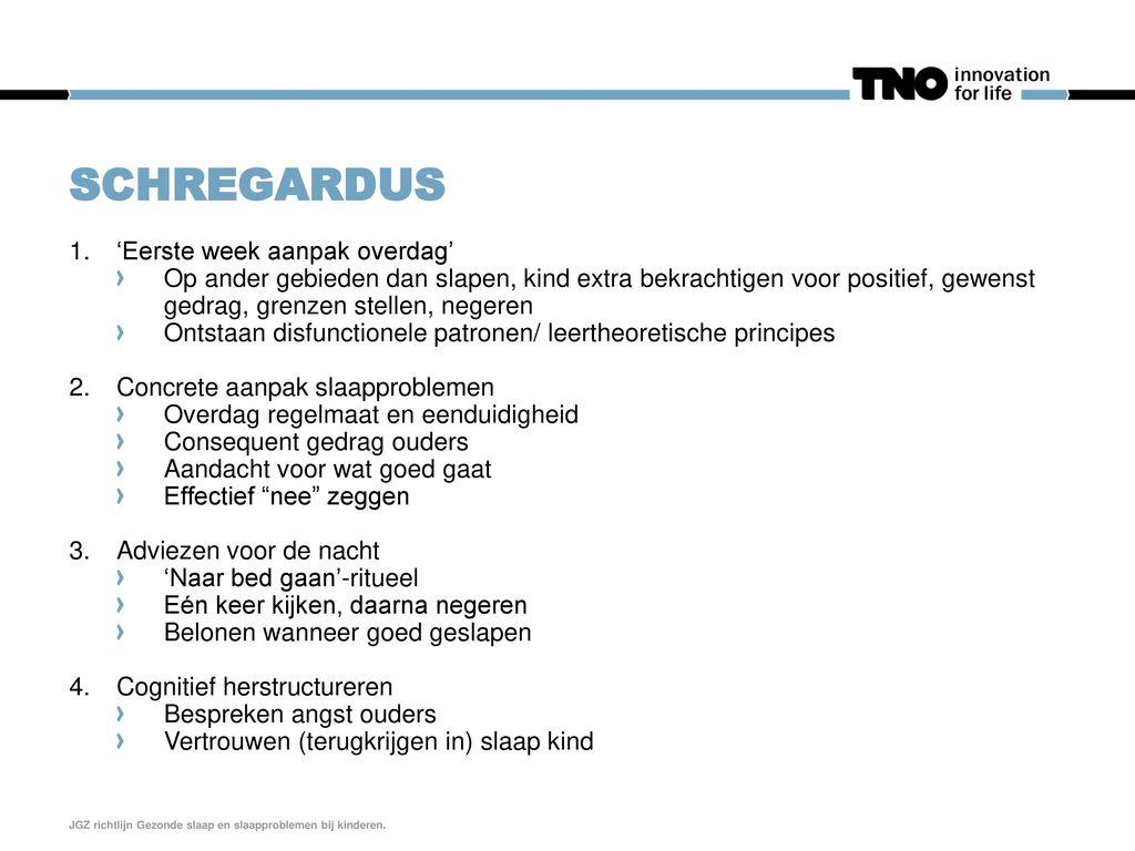 Schregardus 'Eerste week aanpak overdag'