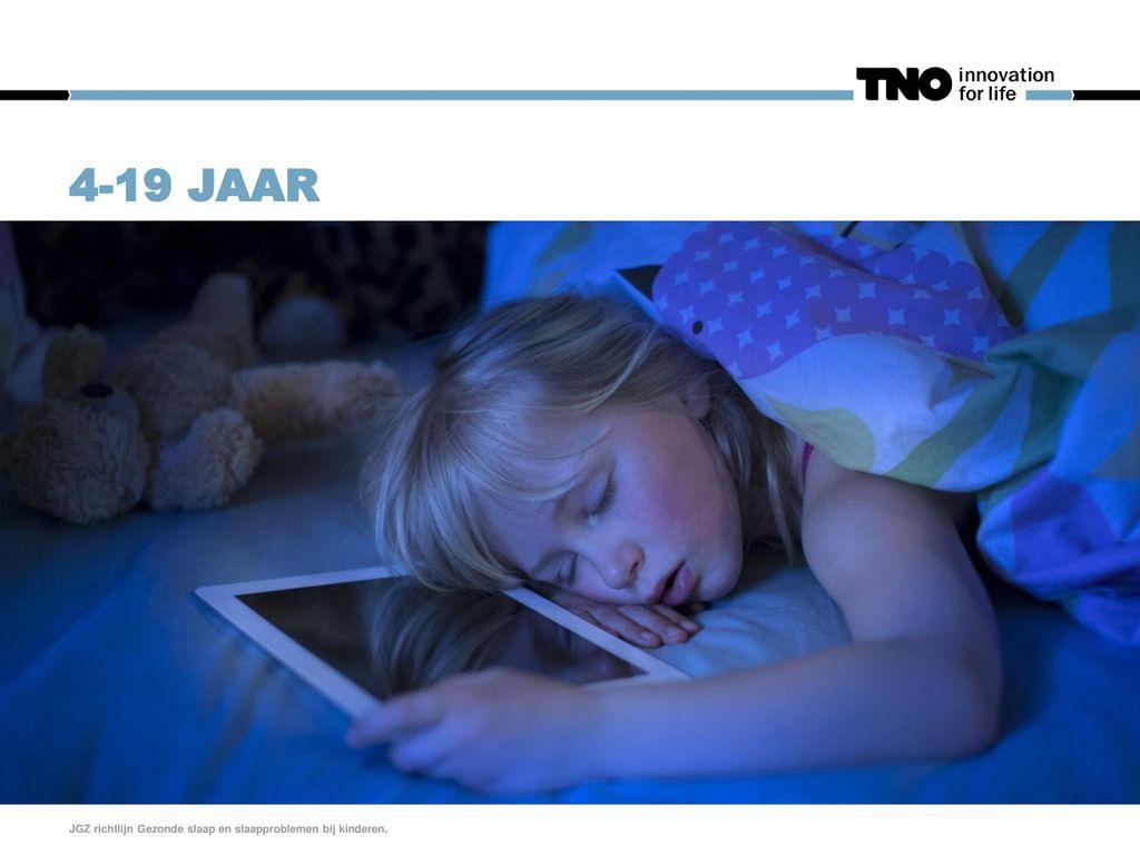 4-19 jaar JGZ richtlijn Gezonde slaap en slaapproblemen bij kinderen.
