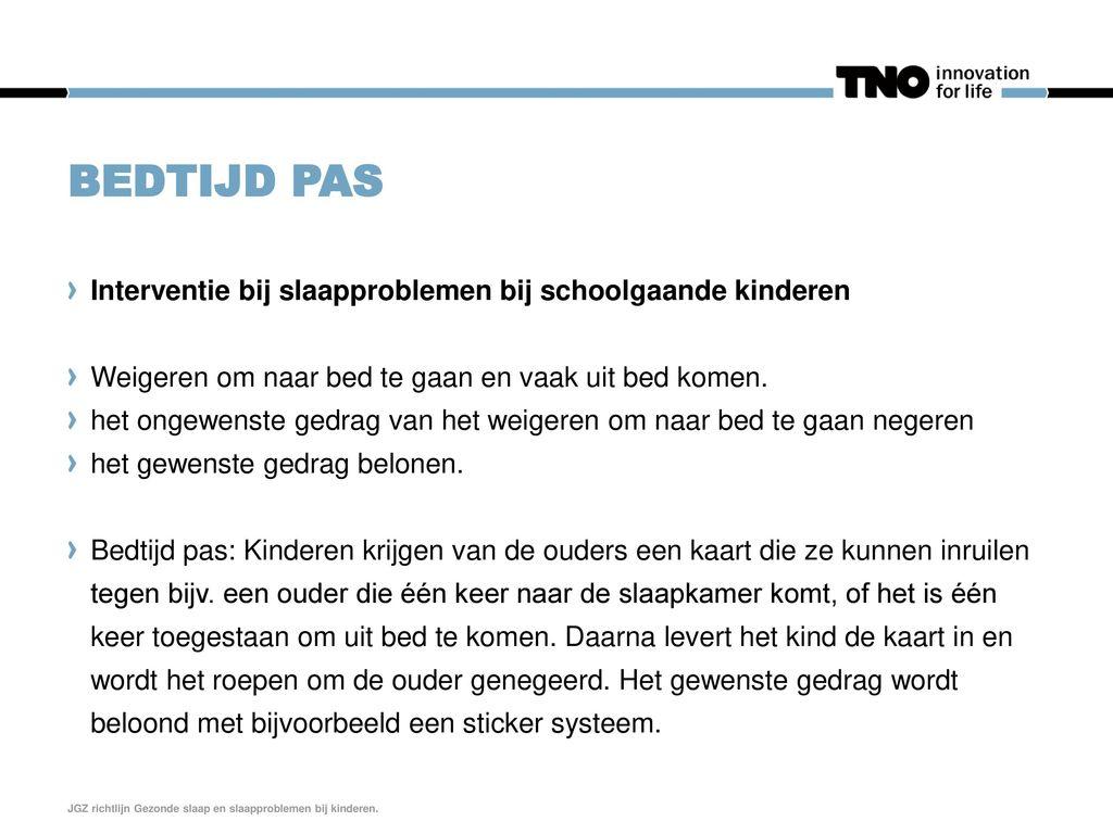 Bedtijd pas Interventie bij slaapproblemen bij schoolgaande kinderen