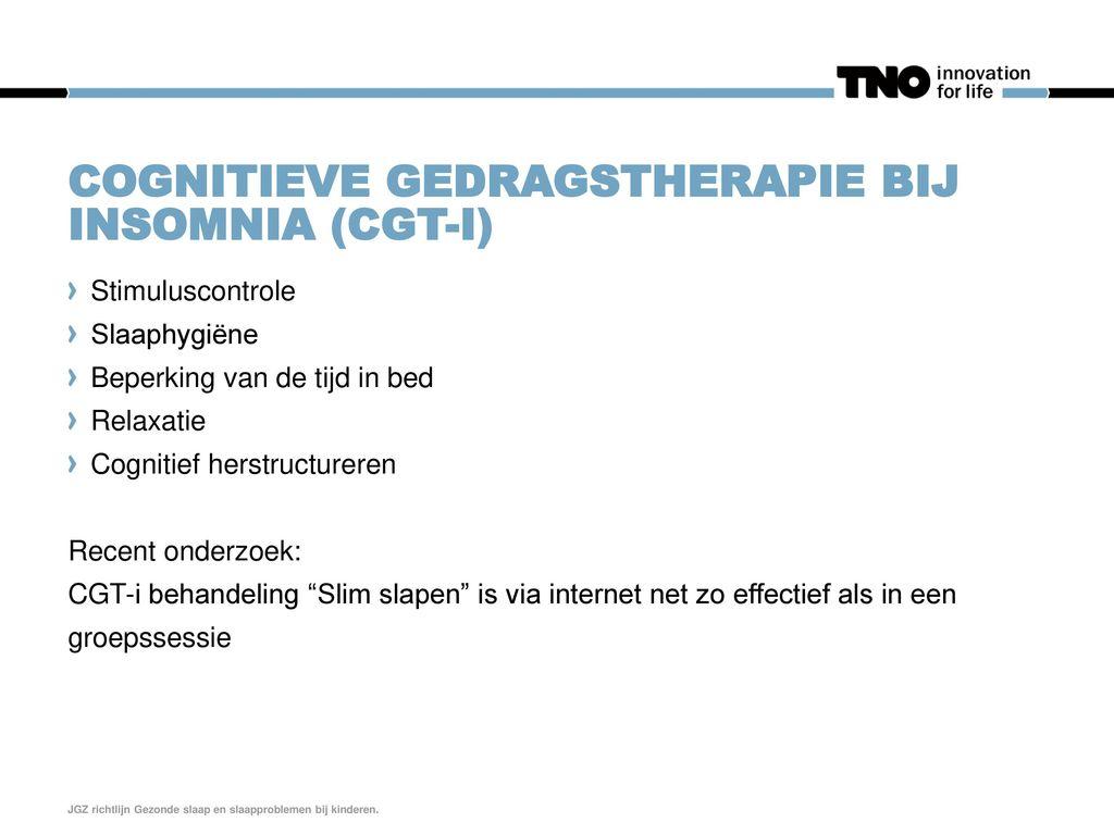 Cognitieve gedragstherapie bij Insomnia (CGT-i)