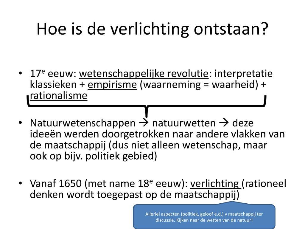 Paragraaf 8.1 De Verlichting - ppt video online download