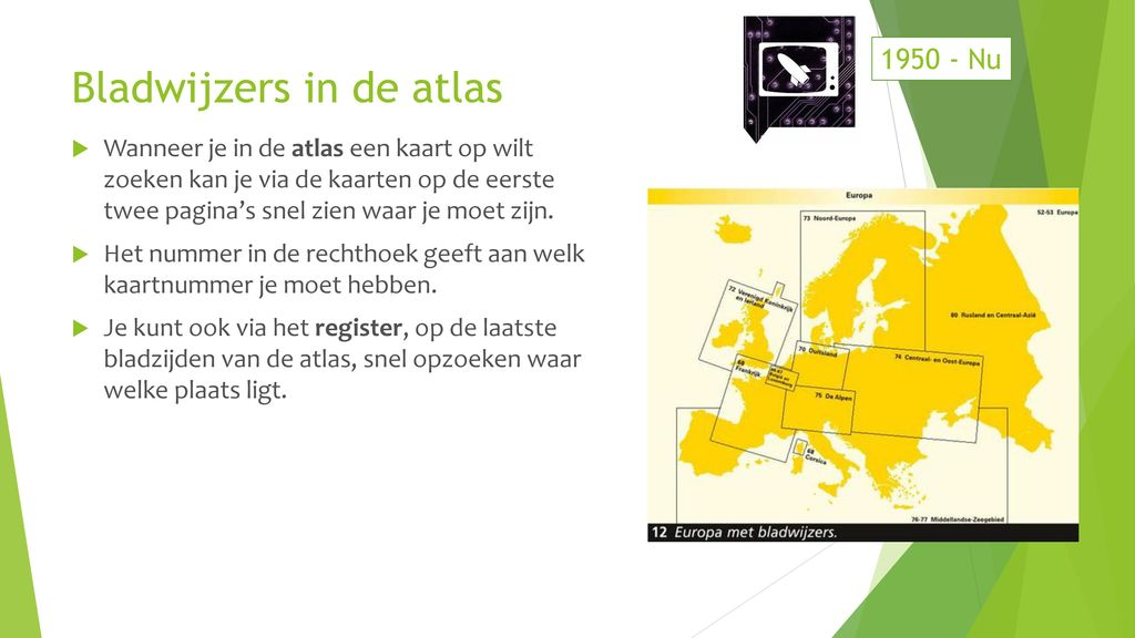 Bladwijzers in de atlas