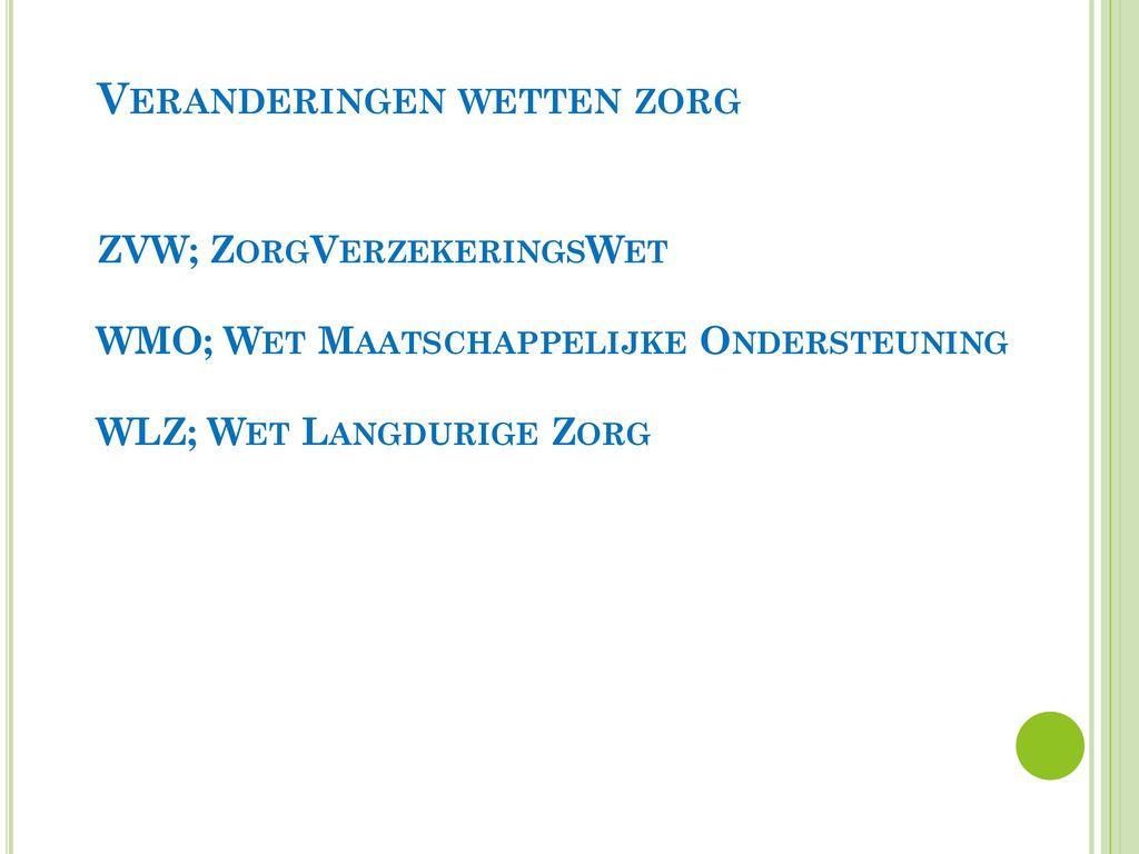 uren tarief wlz zorgverzekering nederland