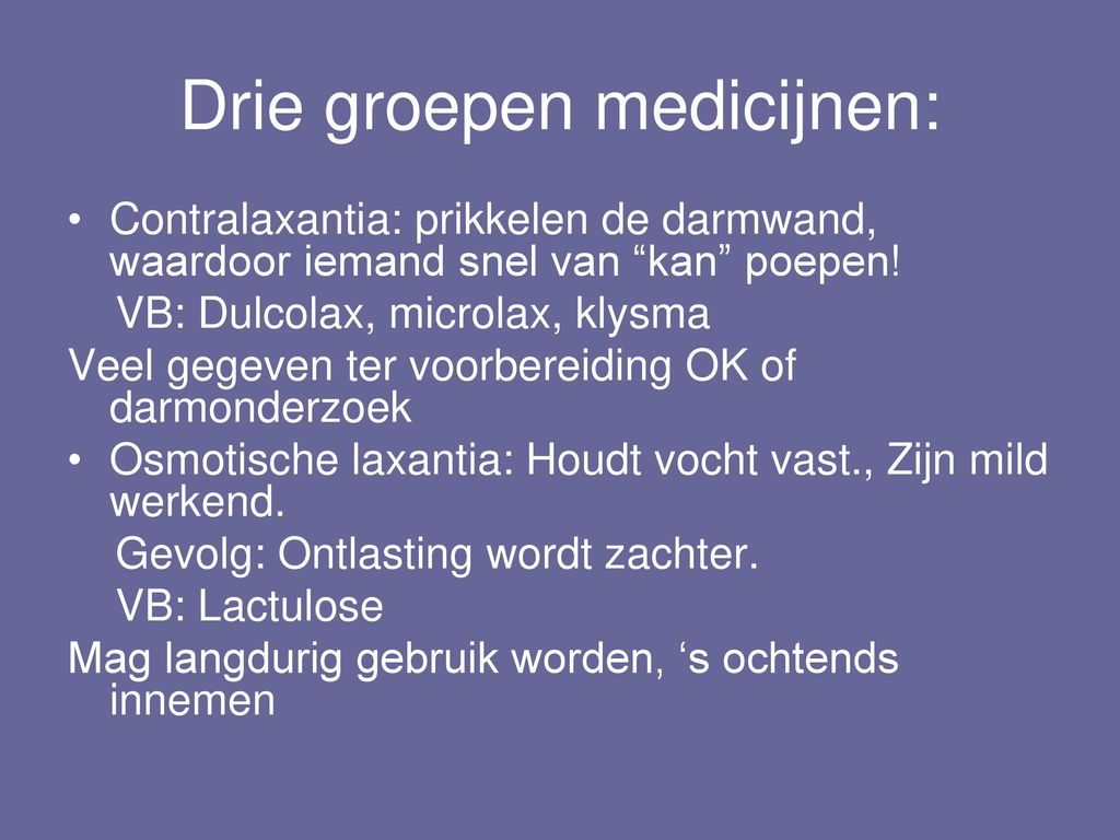 medicatie spastische darm