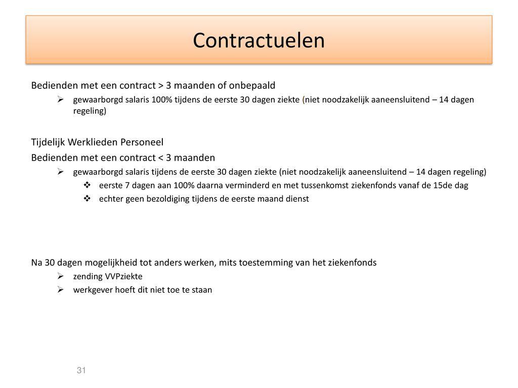 contract niet verlengd tijdens ziekte