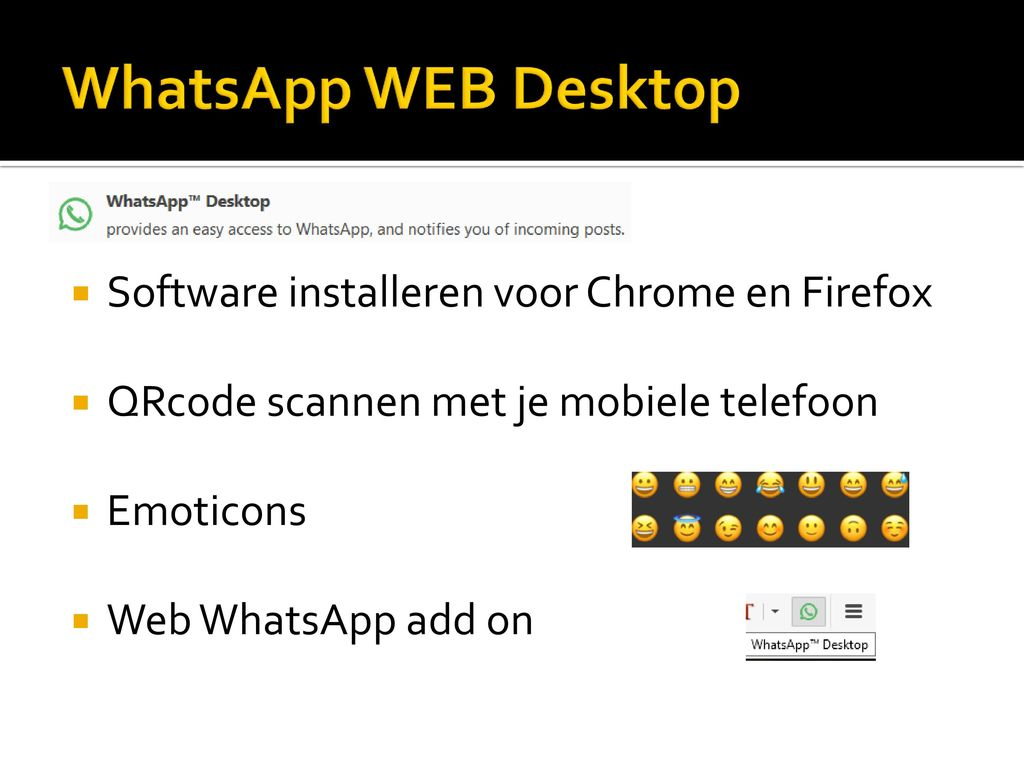 WhatsApp WEB Desktop Software installeren voor Chrome en Firefox