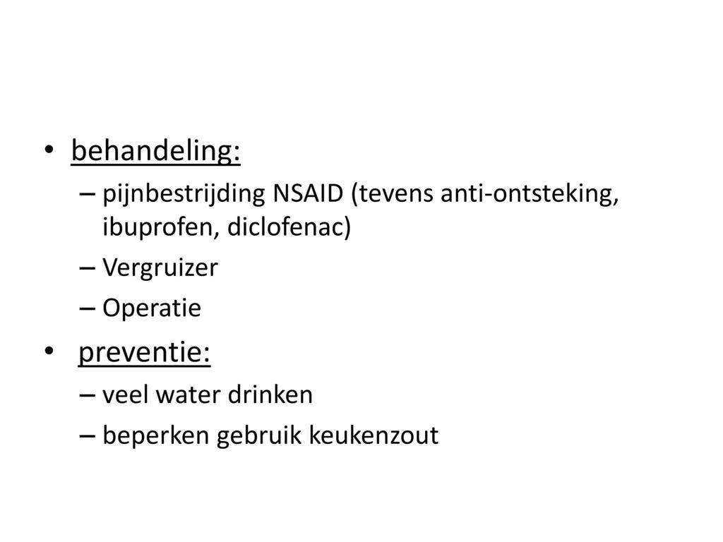behandeling: preventie:
