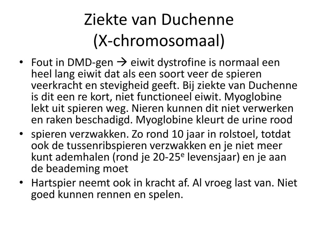 Ziekte van Duchenne (X-chromosomaal)
