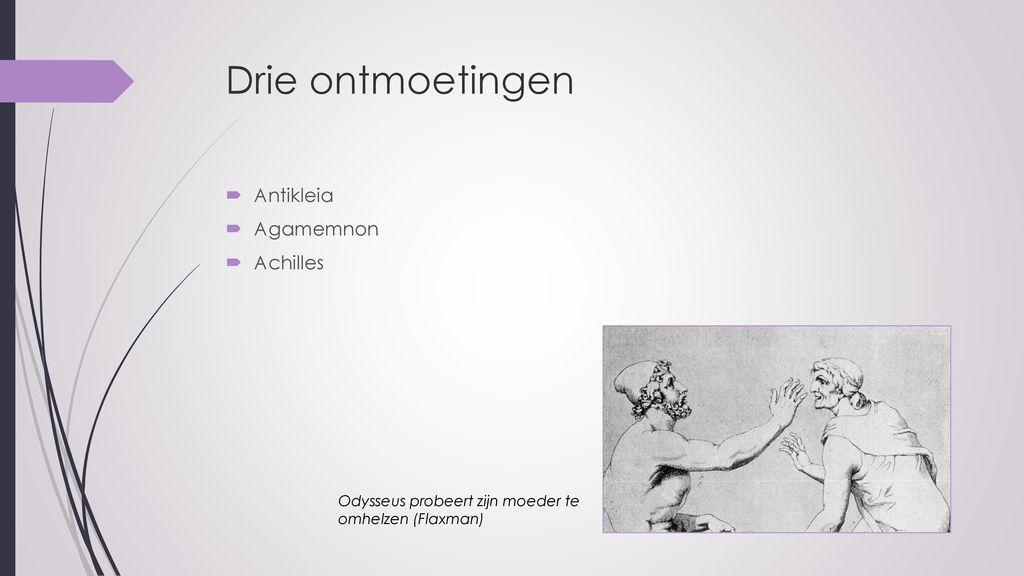 Drie ontmoetingen Antikleia Agamemnon Achilles
