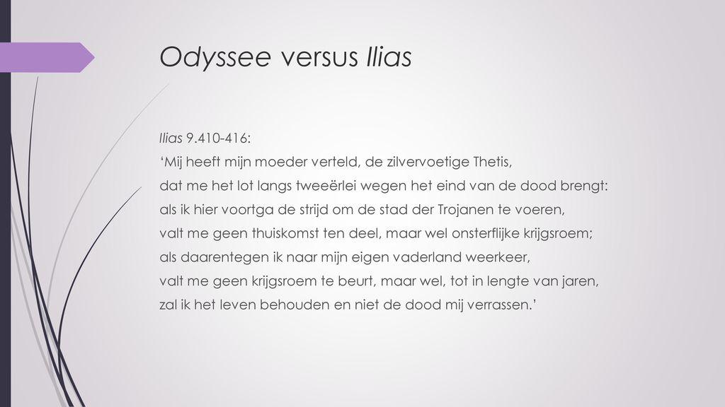 Odyssee versus Ilias