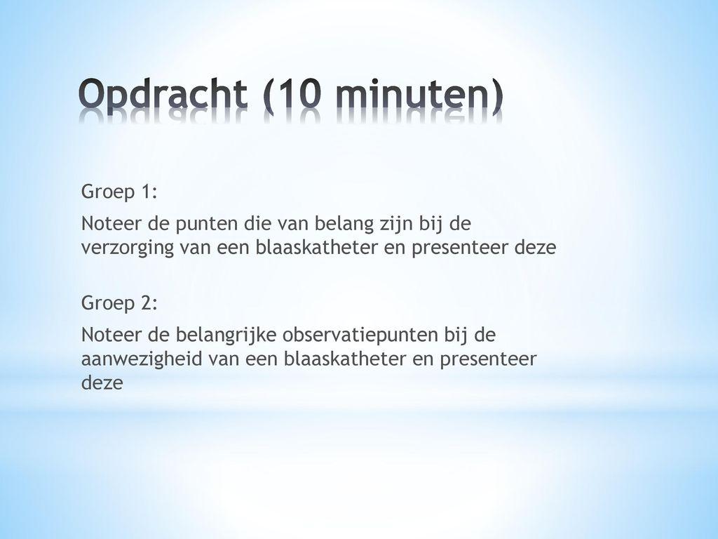 Opdracht (10 minuten)