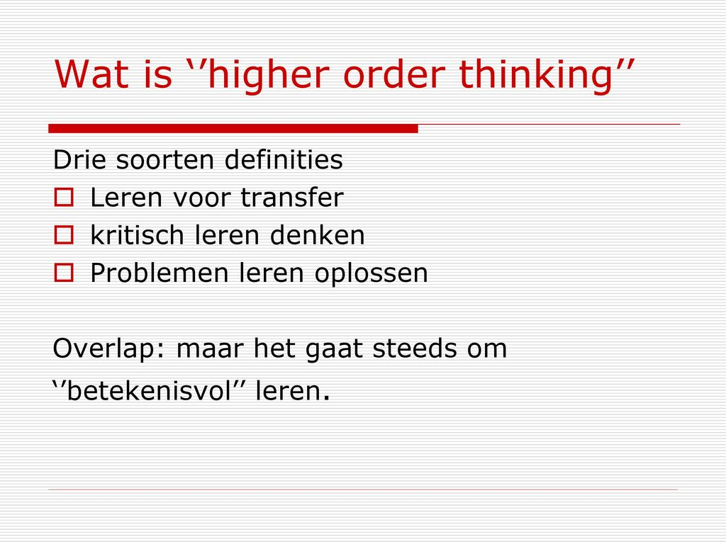 denk opdelen nederland