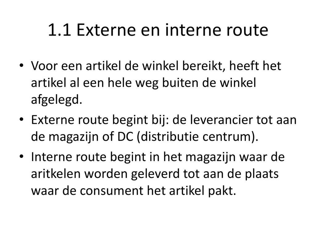 1.1 Externe en interne route