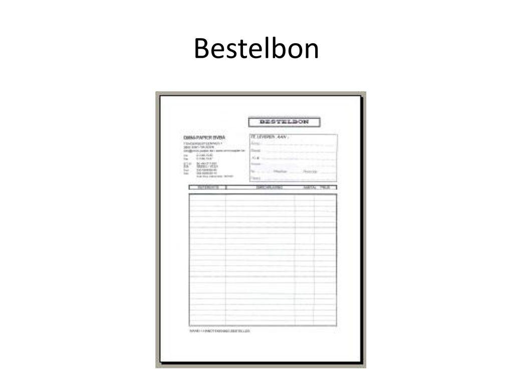 Bestelbon
