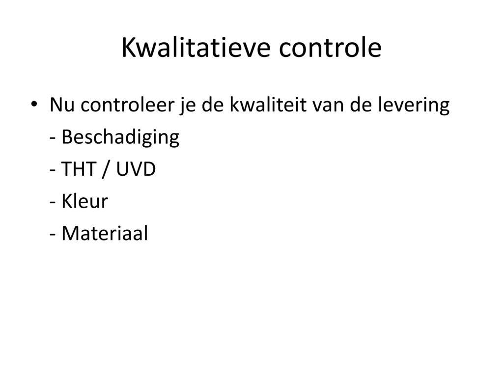 Kwalitatieve controle