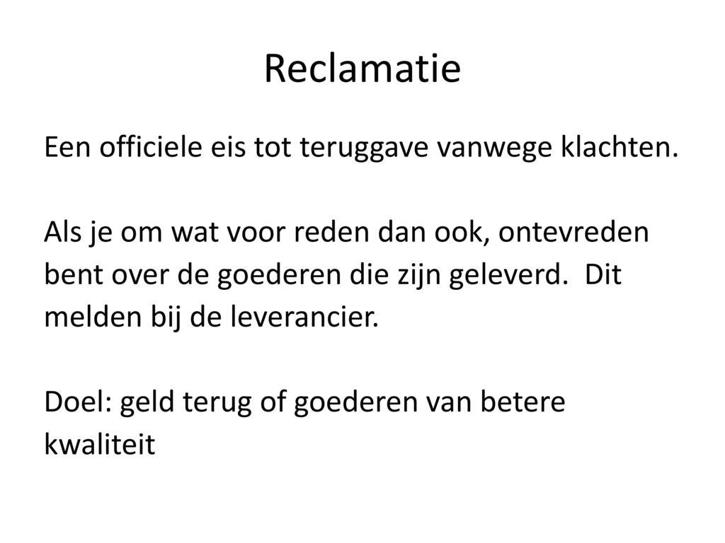 Reclamatie