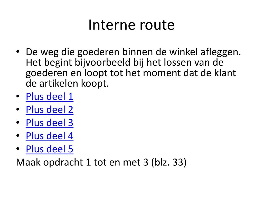 Interne route