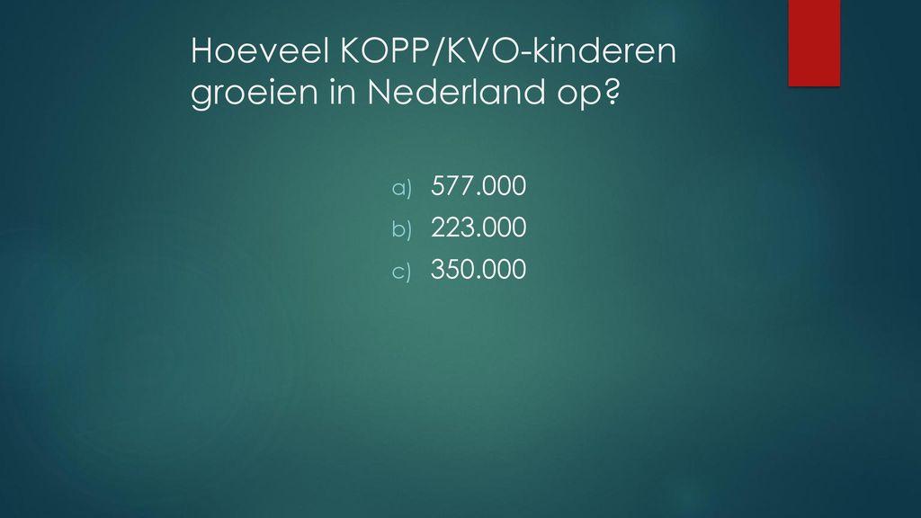 hoeveel kinderen in nederland