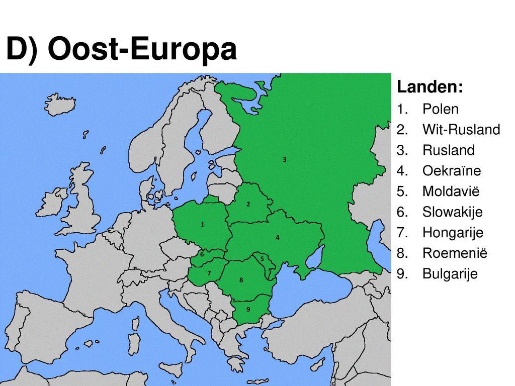 topo leren oost europa