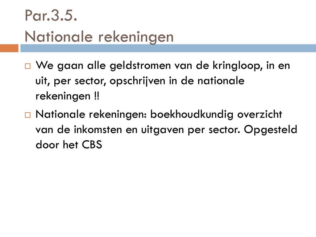 economie nationale rekeningen en kringloop