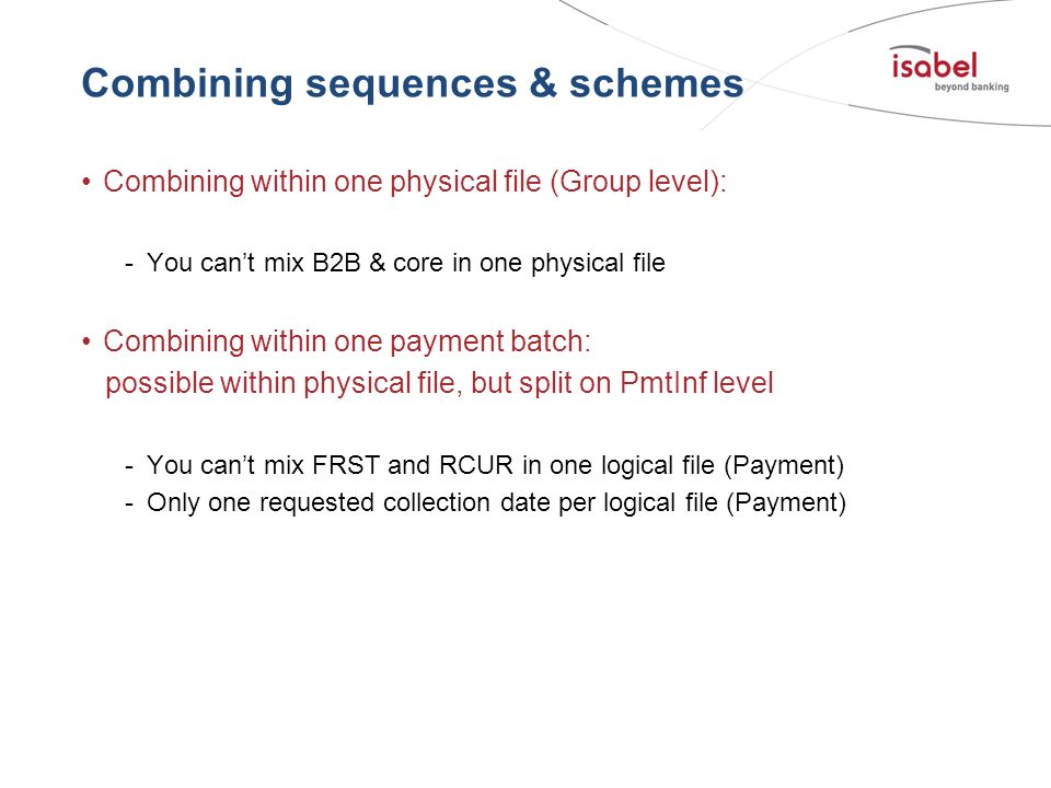 Combining sequences & schemes
