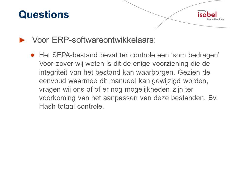 Questions Voor ERP-softwareontwikkelaars: