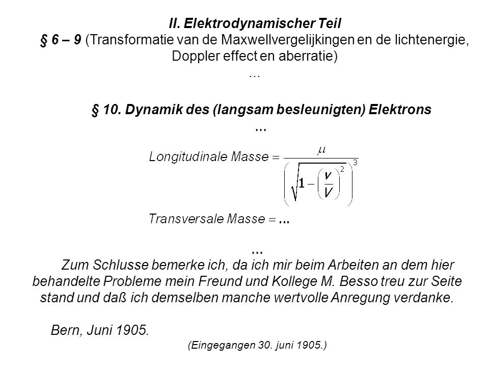 II. Elektrodynamischer Teil