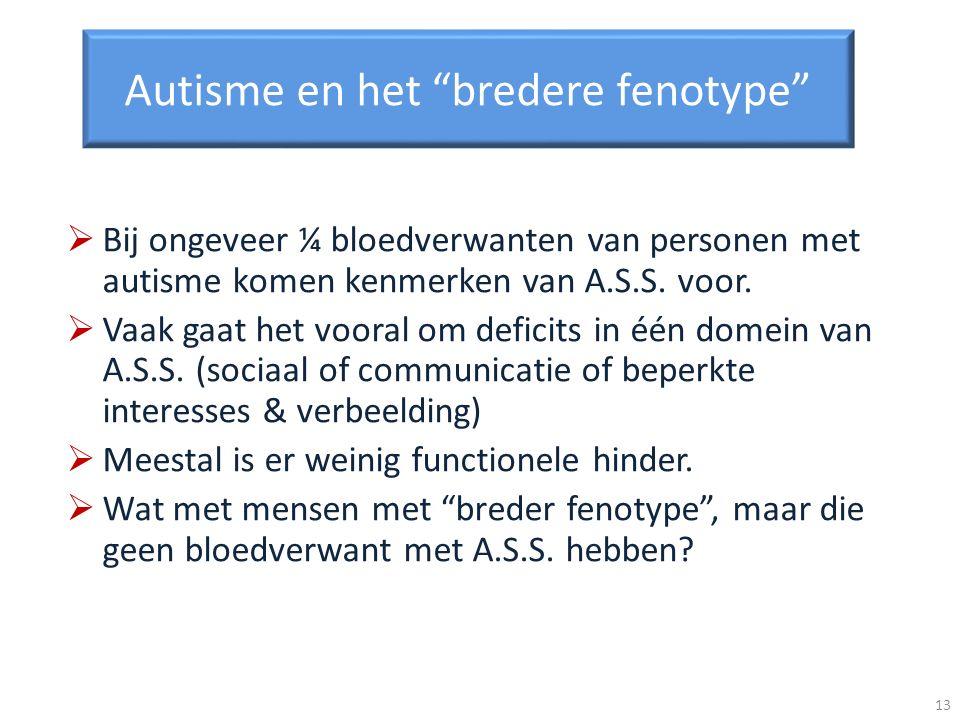 Autisme en het bredere fenotype