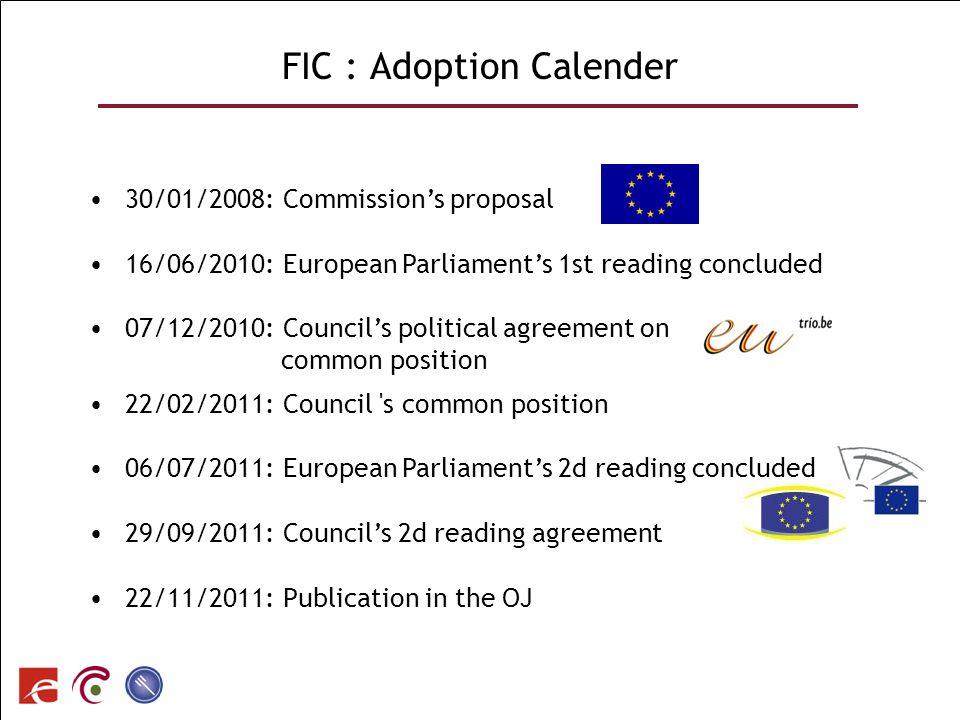 FIC : Adoption Calender