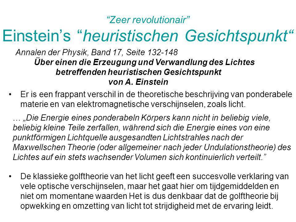 Zeer revolutionair Einstein's heuristischen Gesichtspunkt