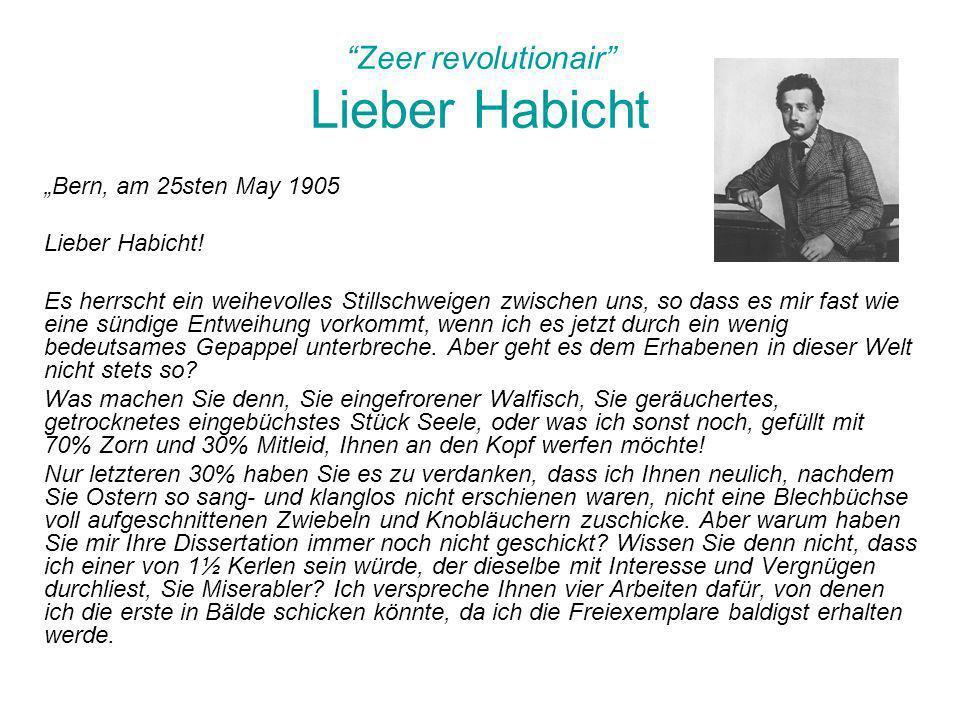 Zeer revolutionair Lieber Habicht