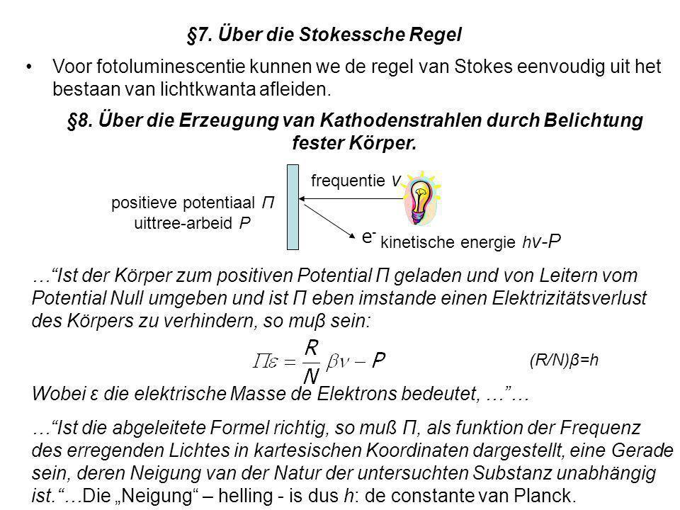 §7. Über die Stokessche Regel