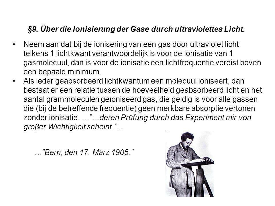 §9. Über die Ionisierung der Gase durch ultraviolettes Licht.
