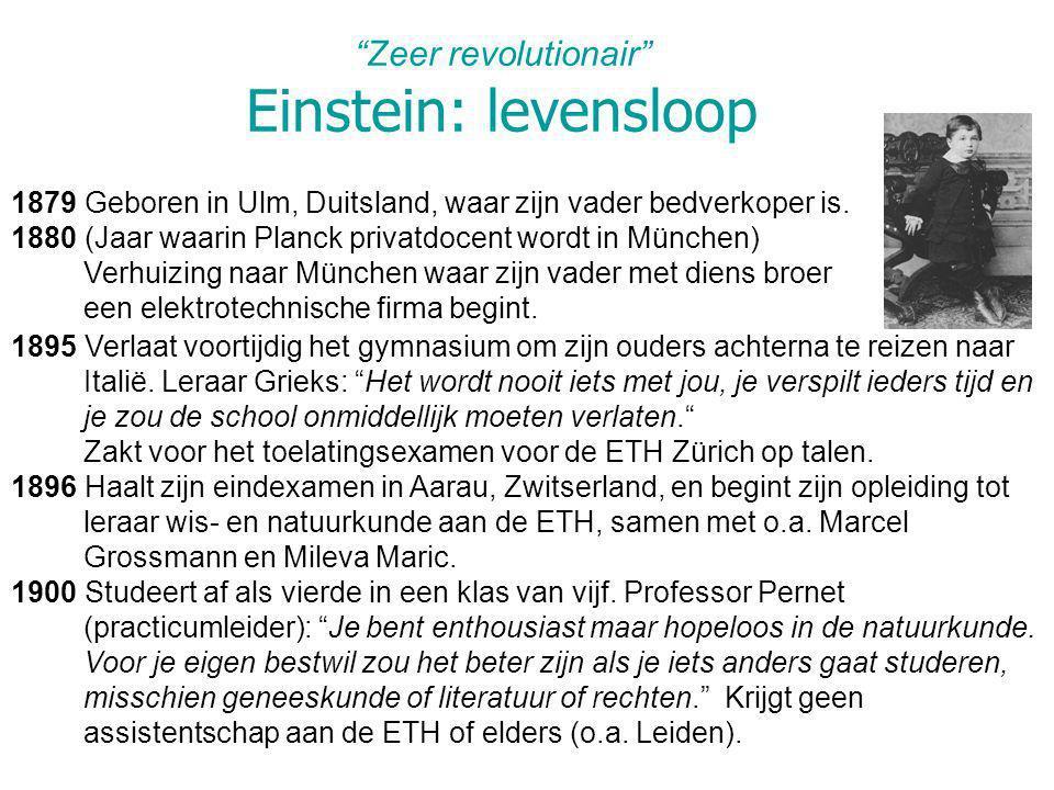 Zeer revolutionair Einstein: levensloop