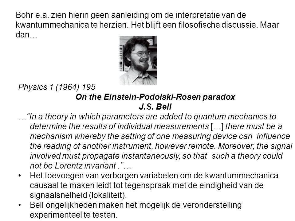 On the Einstein-Podolski-Rosen paradox