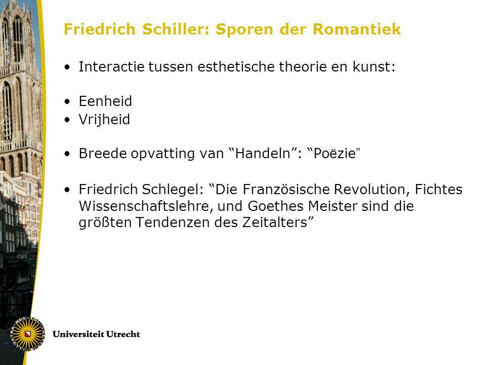 Friedrich Schiller: Sporen der Romantiek
