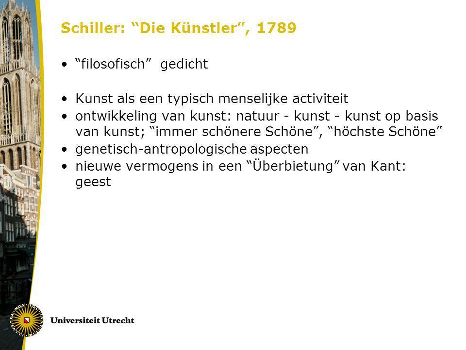 Schiller: Die Künstler , 1789