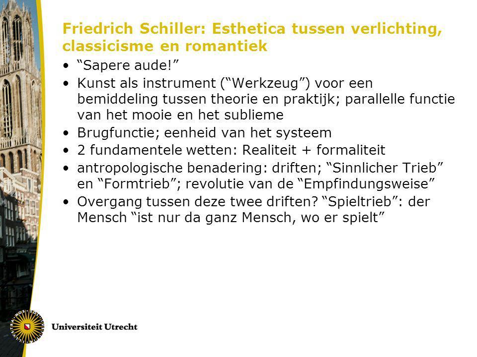 Friedrich Schiller: Esthetica tussen verlichting, classicisme en romantiek