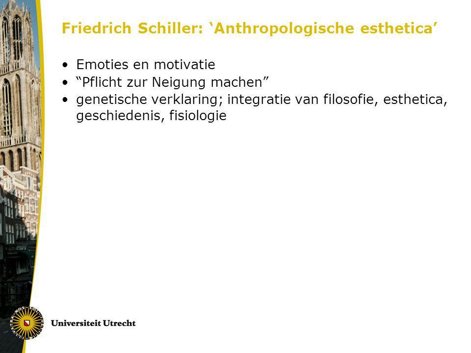 Friedrich Schiller: 'Anthropologische esthetica'